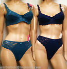 """New In Vogue Bra sets""Mix&Match Teal/Navy 34to40 bcd Underwired/Lined"