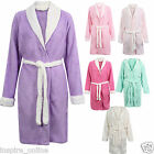 NEW LADIES WOMENS LUXURY MICROFIBER DRESSING GOWN TOWELLING BATHROBE TERRY TOWEL