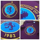 Aston Villa Champions Of Europe 1982 Retro Badge T-Shirt