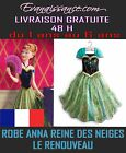 ROBE FROZEN REINE DES NEIGES DISNEY DEGUISEMENT CARNAVAL ANNA ELSA DRESS GIRL
