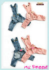 ABBY Jean Bowtie 2 Legs Denim Overall - Designed Pet Dog Wear Clothes - BLUE