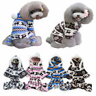 Pet Puppy Dog Clothes Cute Winter Deer Pattern Warm Hoodie Coat Costumes Apparel