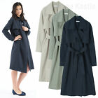 AnnaKastle New Womens Lightweight Cotton Wrap Long Trench Coat size M