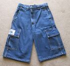 SALE! Men's Stonewashed Denim Cargo Shorts, sizes 30, 32, 34, 36, 38, 40, 42