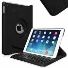 360 Rotating Stand Case Cover with Detachable Bluetooth Keyboard for Apple iPad
