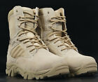 New Men's Wearproof Side Zip Lace Up Comfort Hiking Climbing Combat Ankle Boots