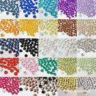 1250 Mixed 2-12mm Colors Acrylic Flatback Rhinestone Scrapbook Nail Craft Clear