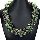 Natural Gemstone Statement Necklace Jewellery Ruby Zoisite, Tigers Eye, Amethyst
