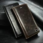 "Genuine Leather Flip Wallet Slim Case Cover For New Apple iPhone 6 4.7"" 5.5"""