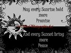 May Every Sunrise Sunset Bring Quote Original Typography Matted Picture A742
