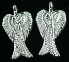 Lots 30pcs Tibet Silver Exquisite Angel Wings Fashion Charm Pendant 29x16mm Free