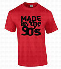 MADE in the 90's Men's T-SHIRT Birthday Gift Retro College Humorous 1990 Shirt image