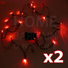 2 x 20 LED STRING LIGHTS PARTY WEDDING CAR NECKLACE BATTERY OPERATED FAIRY LIGHT