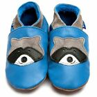 Inch Blue Girls Boys Luxury Leather Soft Sole Baby Shoes - Raccoon Blue