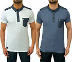 Mens Designer Voi Jeans Polo T Shirt Smart Collared Jersey Pique Top Blanc Tee