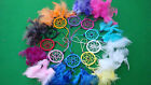 DREAM CATCHERS BEAUTIFUL 5Cm X 30C  IN 9 DIFFERENT COLOURS ''CHEAPEST ON EBAY''