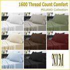NEW Luxury Bedding 4pc SHEET SET Double Queen King Many Colors 40cm Deep Pocket