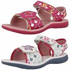 Clarks Girls Flowery Summer Sandals Tandy Queen