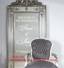 Custom Wedding Welcome Sign Sticker Decal Wall Mirror Frame Removable
