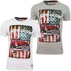 Mens T-Shirt by Brave Soul USA Classic Car Print