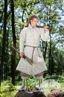 "Fantasy ""Elven"" Gambeson Coat LARP Cosplay ""Handmade"" Natural Flax Linen for Men"