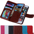 New Luxury 9 Card Leather Wallet Stand Case Flip Cover For Apple iPhone Models