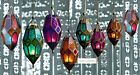 MOROCCAN METAL HANGING COLOURED GLASS LANTERN TEA LIGHT HOLDER, HOME GARDEN GIFT
