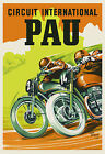 Vintage French Motorcycle Poster 1950s Pau Retro Triumph Norton Velocette BSA €13.97 EUR on eBay