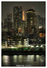 TOKYO JAPAN Tokyo Tower Dark Night Cityscape Skyline Portrait Poster/Print
