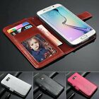 Luxury PU Leather Wallet Flip Cover Stand Case For Samsung Galaxy S6 G9200