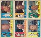 1960 , Topps , Includes some #'s from 285 to 524 , Pick From Drop Down List