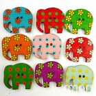 10/50/200/500pcs Mixed Bulk Wood Elephant Buttons Lot 27x30MM Craft Sewing Cards