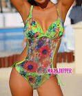 Sexy hot  Green Flower One Piece MONOKINI SWIMSUIT SWIMWEAR US SIZE M L XL
