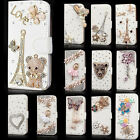 Luxury Wallet Bling Rhinestone Leather Flip Case Cover For Various Samsung Phone