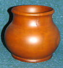5in Bali Teak Wood Wide Mouth Vase Oven Dried Great Heft/Look/Feel DISCOUNT!
