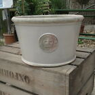 Kew Pot Glazed Low Garden Planter Almond