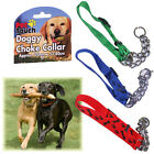 CHOKE COLLAR DOG CHECK CHAIN HALF CHOKER ADJUSTABLE PUPPY STRONG TRAINING NYLON