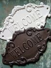 Cast Iron French Country Cottage WELCOME Sign Home Garden Wall Outdoor Decor