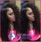 Fashion Kinky Curly 100% remay human hair full/front lace wig with 180% density