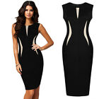 New Celeb Ladies Bodycon Pencil Black Cocktail Evening Party Dress Size 6-18