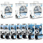 PHILIPS WHITE VISION HEADLIGHT BULBS FULL RANGE H1  H3  H4  H7 HB3  501 w5w  233
