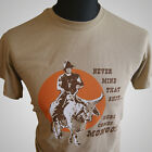 Blazing Saddles Cult Retro Movie T Shirt Funny Joke Here Comes Mongo Tan