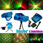 R G Super Mini Projector DJ Disco LED Light Stage Party Laser Lighting Show Plug