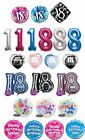 Latex,Plastic & Foil Balloons Helium Fill Age 18 18th Eighteenth Legal Birthday