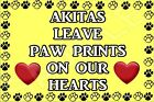 Dogs Leave Paw Prints On Our Hearts - (A-J) Fridge Magnet - Ideal Present/Gift