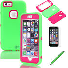 Shockproof Rugged Hybrid Rubber Hard Cover Case For Apple iPhone 6 Plus /6s Plus