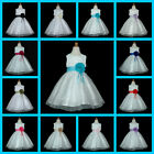 198  White Bridesmaid Wedding Party Flower Girls Dresses Age 1 to 13 Y