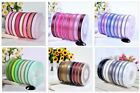 Wholesale 100Yards/roll Solid Color Grosgrain Ribbon Craft 196C /In 6-50mm