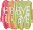 Ladies uk Size 8 - 20 Cotton Jumpers 8 10 12 14 16 18 20 Coral, Apricot, Lime