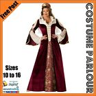 Womens Medieval Queen Game Of Thrones Ladies Fancy Dress Costume Size 10 to 16